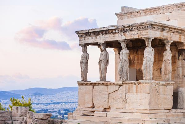 The caryatids of the Erechtheion in Athens