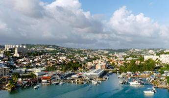 Bustling port of Fort de France, Martinique