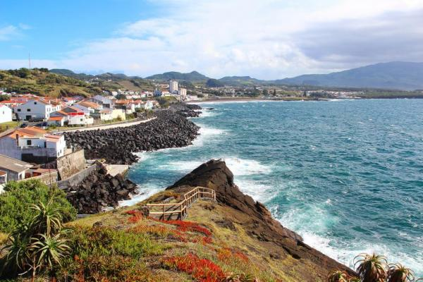 Colorful shores of the Azores