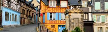 Charming timber houses of Honfleur