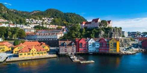Colorful port of Bergen