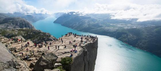 Famed Pulpit Rock in Norway