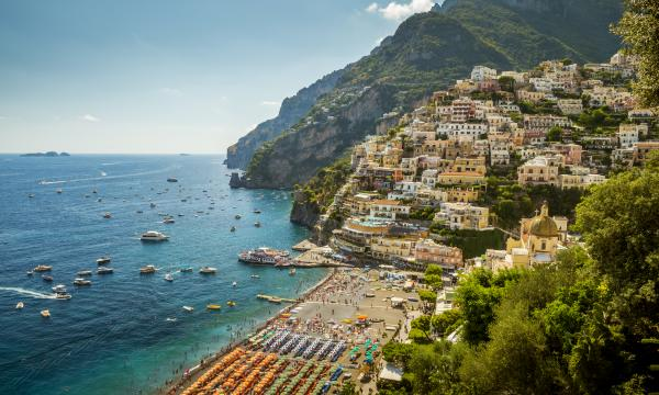 Beautiful Positano on Italy's Amalfi coast