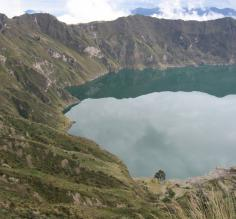 Quilotoa Crater Lake in Ecuador