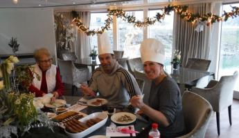 Making Gingerbread on the Amalea