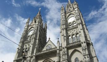 Historic architecture in downton Quito, Ecuador