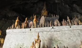 Cave of Buddhas on the Mekong River