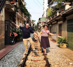 Railroad tracks in Hanoi