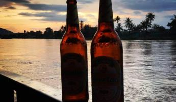 Beer Lao on the Mekong