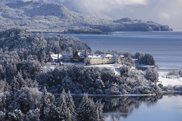 Bariloche in winter, dusted with snow