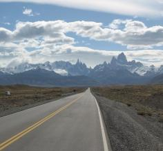 The road to El Chalten