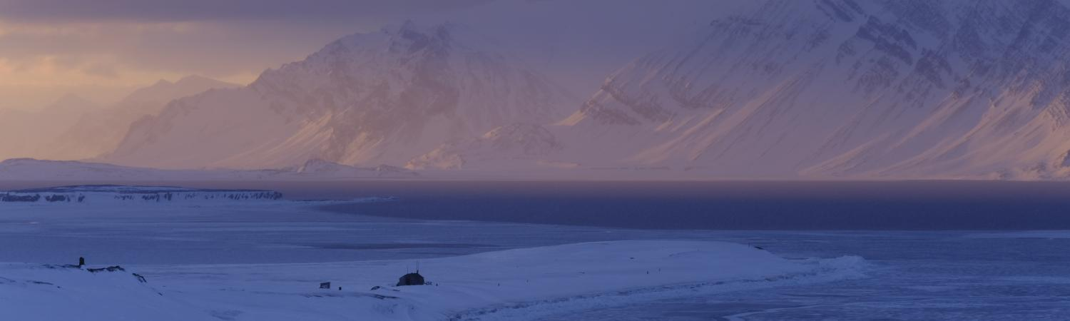The Arctic landscape where Hilde and Sunniva will spend 9 months as citizen scientists