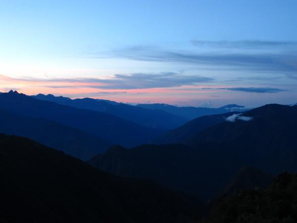 Sunset at Phuyupatamarca, Inca Trail