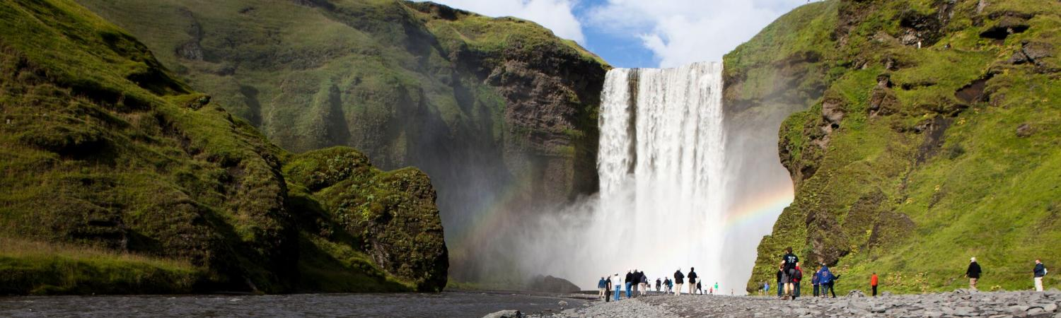 Waterfall Skogafoss in South Iceland
