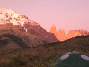 Sunset at EcoCamp in Torres del Paine