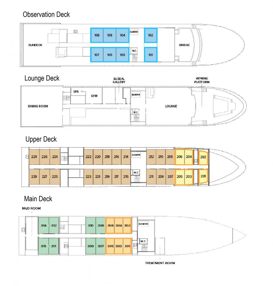 National Geographic Quest Deck Plan