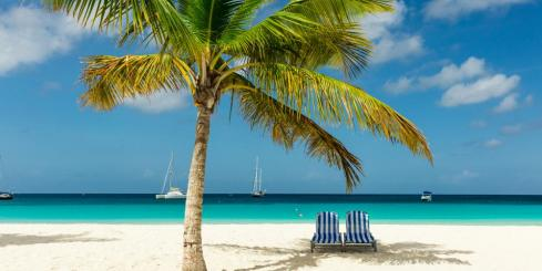 Relax on the sunny beaches of the Caribbean
