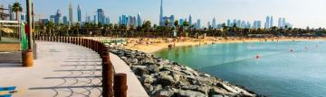 Walk along the beaches of Dubai