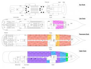 Sea Cloud Spirit Deckplan