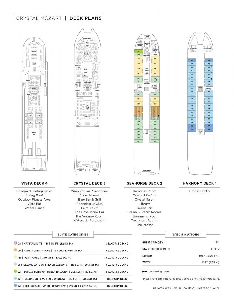 Deck Plan of Crystal Mozart