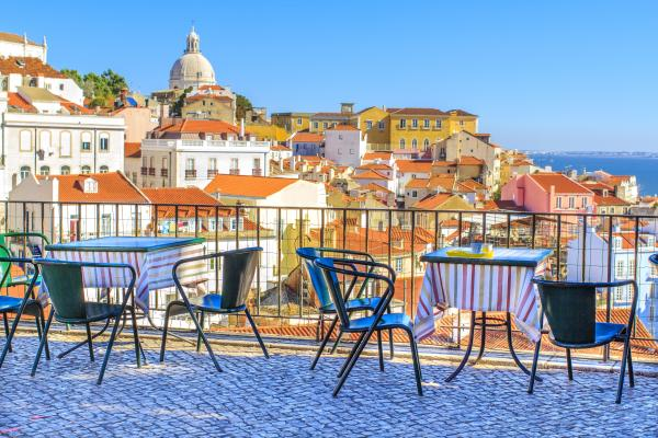 Relax with a stunning view of Lisbon