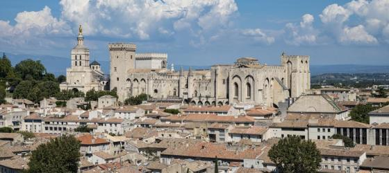 The Palais des Papes dominates the Avignon skyline