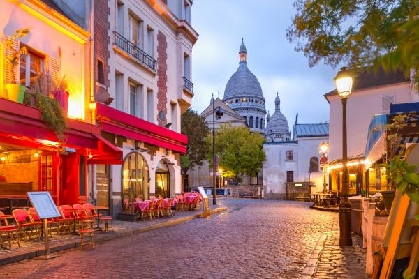 Wander through Paris' historic Montmartre district