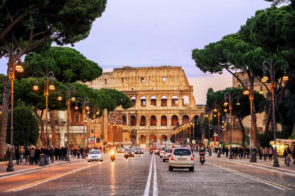 Ancient and modern worlds collide in Rome