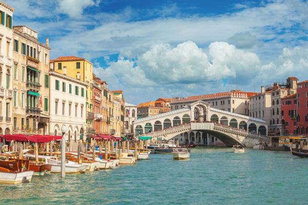 See the famed Rialto bridge in Venice