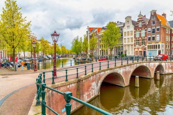 Stroll through the romantic streets of Amsterdam