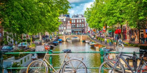 Amsterdam is known for its citizens' love for bikes!
