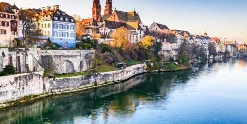 Stop in beautiful Basel, Switzerland