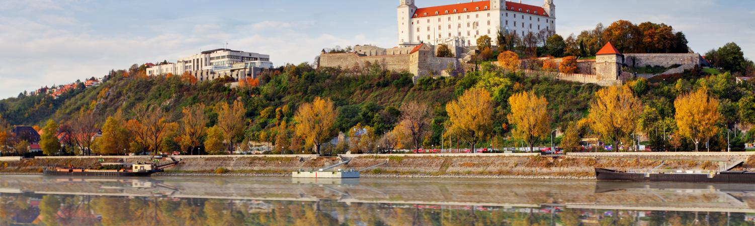A quiet autumn morning in Bratislava