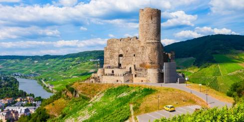 Visit castle ruins in the German countryside