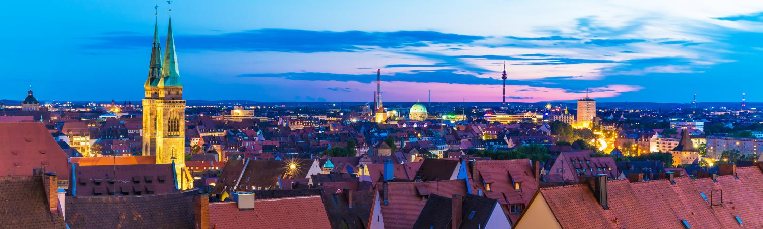 Evening light over Nuremberg