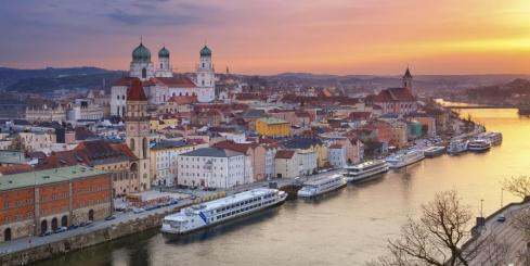 Sunset over Passau