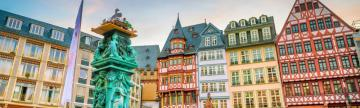 Admire the colorful buildings of historic Frankfurt