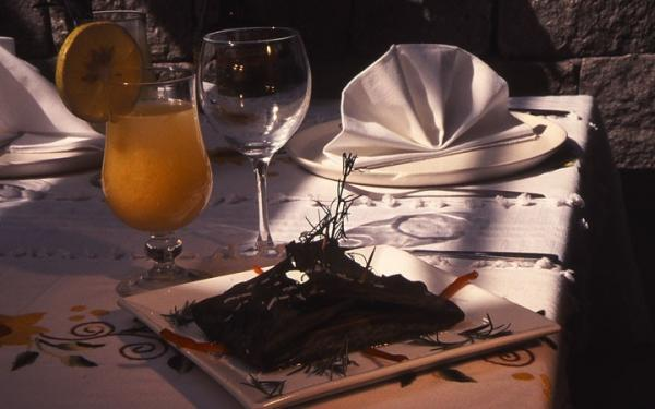 A delicious meal awaits you at the hotel restaurant
