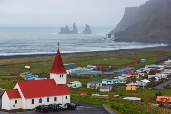 The charming village of Vík, Icleand