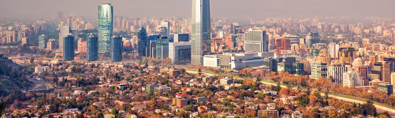 Skyline of Santiago