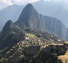 The view with Huanya Picchu in the background.