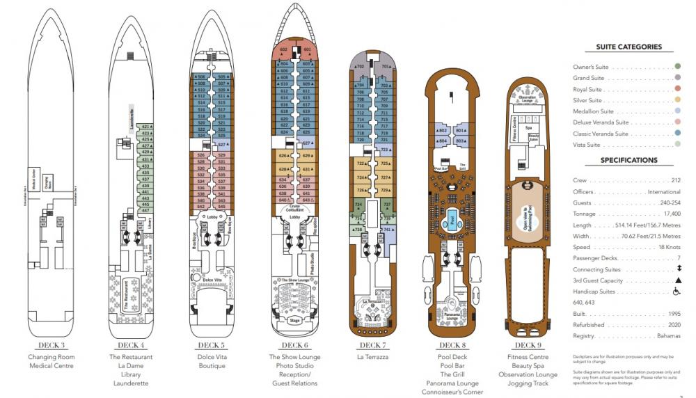 Silver Wind Deck Plan