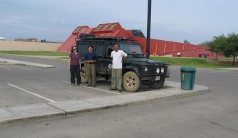 Our team ready to drive around Peru!