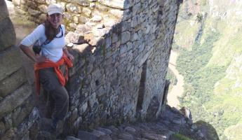 I still cant believe I went that high! Wainapicchu ruins.
