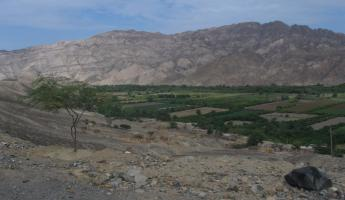 Valley in the middle of the desert on the Southern Peru