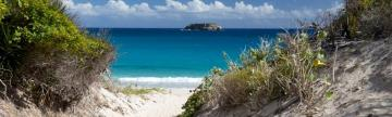 Stroll along the white sandy beaches of St. Barth's