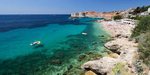 Relax on the beaches surrounding famous Dubrovnik