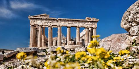Admire the temples of the Athenian acropolis