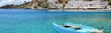 Crystal clear blue waters in Crete