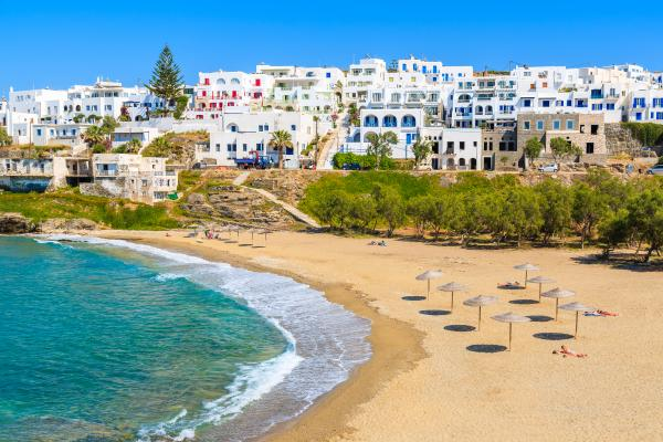 Relax on the sunny beaches of Paros